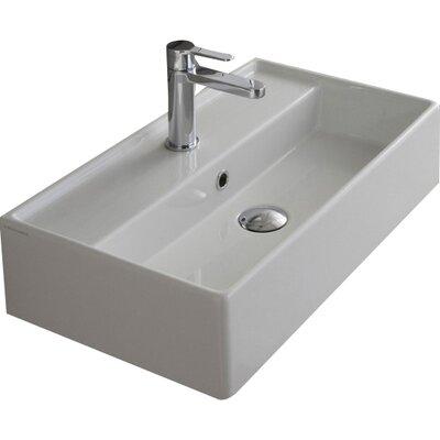 Scarabeo By Nameeks Teorema 24 Wall Mounted Bathroom Sink With Overflow Reviews Wayfair