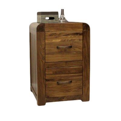 baumhaus shiro walnut range 2-drawer vertical filing cabinet