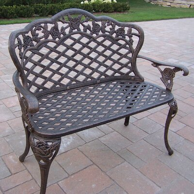 Oakland Living Tea Rose Aluminum Garden Bench Reviews Wayfair