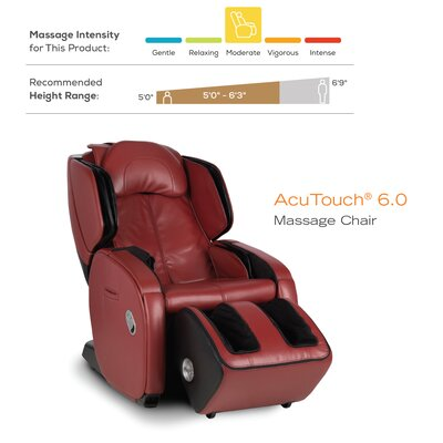 Reclining Massage Chair human touch acutouch 6.0 reclining massage chair & reviews | wayfair