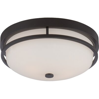 World menagerie collin 2 light flush mount reviews wayfair