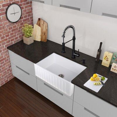 Edison Single Handle Pull Down Spray Kitchen Faucet Matte Black Reviews Allmodern