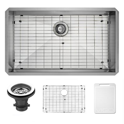 vigo alma 32 inch undermount 16 gauge stainless steel kitchen sink u0026 reviews wayfair