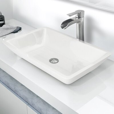 vigo flat edged phoenix stone rectangular vessel bathroom sink u0026 reviews wayfair