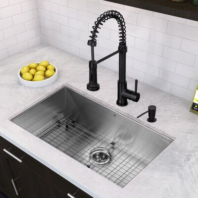 stainless steel kitchen sink with drainboard faucet pull down spray rozin single bowl gauge matte black fa