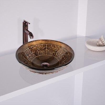 vigo golden greek glass circular vessel bathroom sink u0026 reviews wayfair