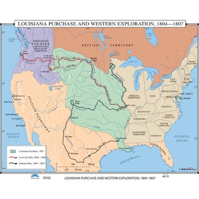 Universal Map US History Wall Maps  Louisiana Purchase