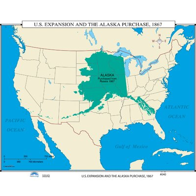 Universal Map US History Wall Maps  US Expansion  Alaska