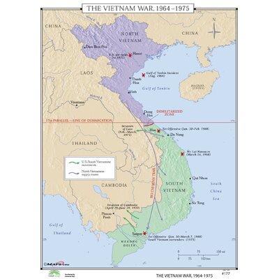 Universal Map World History Wall Maps - Vietnam War 1964-75 | Wayfair