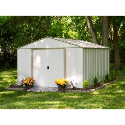 arrow oakbrook 10 ft 3 in w x 13 ft 7 in d metal storage shed reviews wayfair