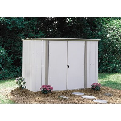 Garden Sheds 8 X 3 arrow 8 ft. 3 in. w x 3 ft. 3 in. d metal storage shed & reviews