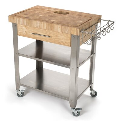 kitchen cart three posts newfane kitchen cart & reviews | wayfair