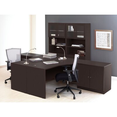 haaken furniture pro x 6 piece l-shaped desk office suite | wayfair