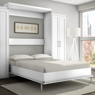 Wall Bed Frame stellar home shaker murphy bed & reviews | wayfair