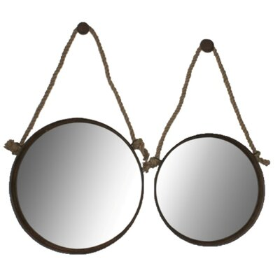 Wall Mirror Set cheungs 2 piece hanging wall mirror set & reviews | wayfair