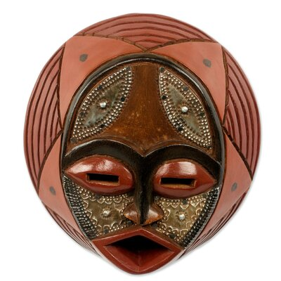 Circular Wall Decor novica victor dushie handcrafted circular west african mask wall