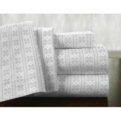 Pointehaven Fair Isle 100% Cotton Flannel Sheet Set & Reviews ...