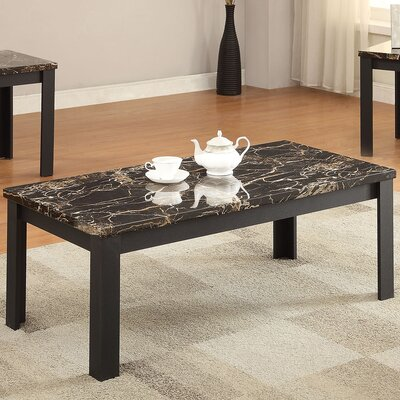 ACME Furniture Carly Faux Marble 3 Piece Coffee Table Set U0026 Reviews |  Wayfair