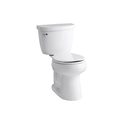 Kohler Cimarron Comfort Height 2 Piece Round Front 1.28 GPF Toilet With  Aquapiston Flush Technology And Left Hand Trip Lever U0026 Reviews | Wayfair