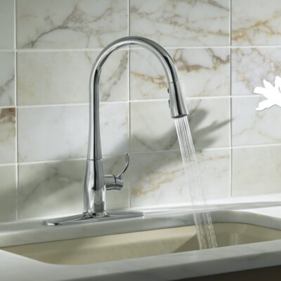 Kohler Simplice Kitchen Sink Faucet With 16 5 8 Pull Down Spout Reviews Wayfair