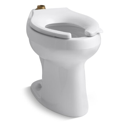 kohler highline 16 or 128 gpf flushometer valve comfort height ada elongated toilet bowl requires seat u0026 reviews wayfair