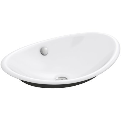 Bathroom Sinks Oval kohler iron plains wading pool oval vessel bathroom sink with