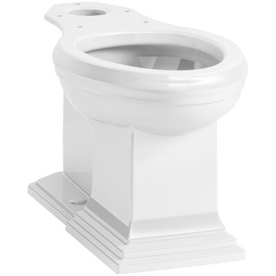 memoirs comfort height elongated toilet bowl with concealed trapway