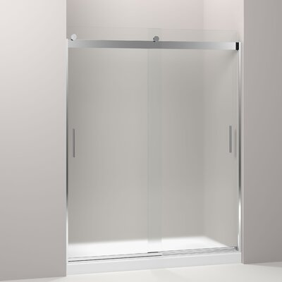 "Frosted Sliding Shower Doors kohler levity 59.63"" x 74"" bypass bath door & reviews | wayfair"