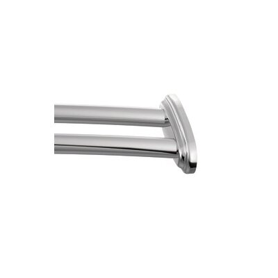 curved curtain rod for bay window shower corner tub double adjustable