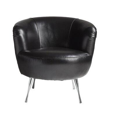 Lazzaro Leather Modena Leather Barrel Chair U0026 Reviews | Wayfair