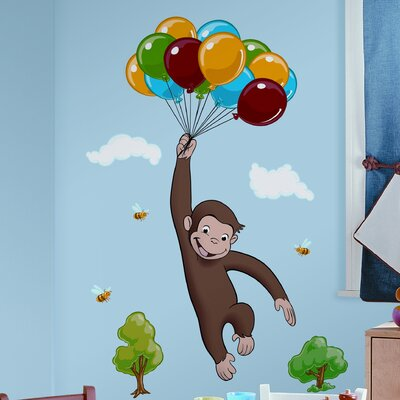 Great Room Mates Favorite Characters 10 Piece Curious George Giant Wall Decal U0026  Reviews | Wayfair Part 5