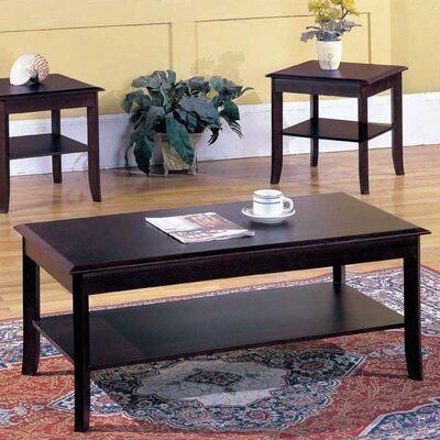 andover mills jessica 3-piece coffee table set & reviews | wayfair