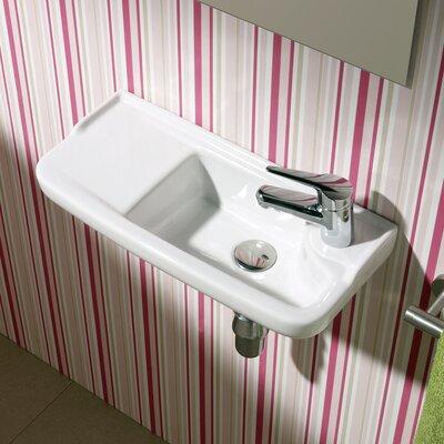 Bissonnet Universal Oxigen Ceramic 20 Wall Mounted Bathroom Sink With Overflow Reviews Wayfair