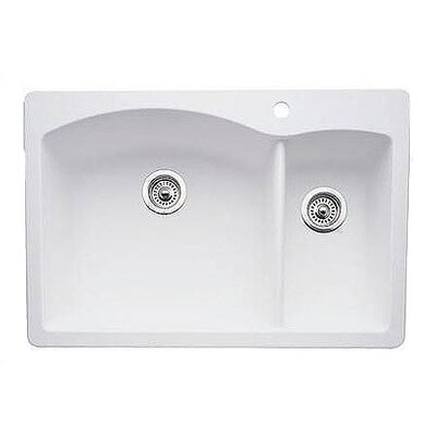 Blanco Diamond 33 X 22 2 Basin Drop In Kitchen Sink Reviews Wayfair