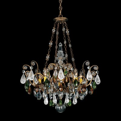 schonbek renaissance rock 8light crystal chandelier u0026 reviews wayfair - Schonbek Chandelier