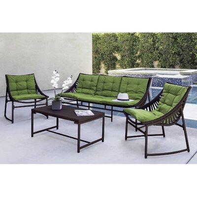 Varick Gallery Crick Indoor/Outdoor 4 Piece Seating Group with ...