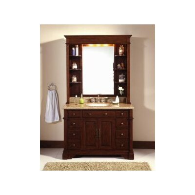 "Bathroom Hutch lanza 48"" single bathroom vanity set with mirror & reviews 
