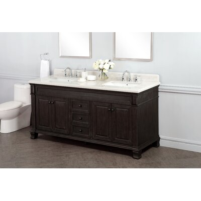 "lanza kingsley 72"" double bathroom vanity set & reviews 