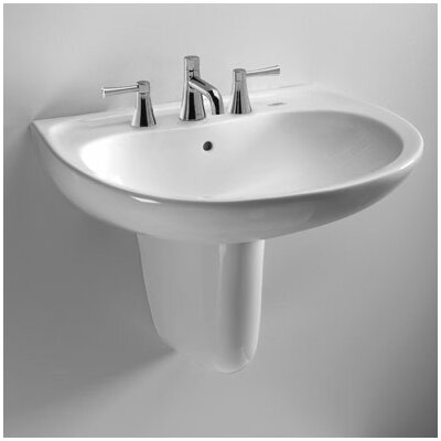 "Bathroom Sinks That Mount On The Wall toto supreme 22"" wall mount bathroom sink with overflow & reviews"