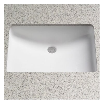 toto rimless rectangular undermount bathroom sink with overflow reviews wayfair