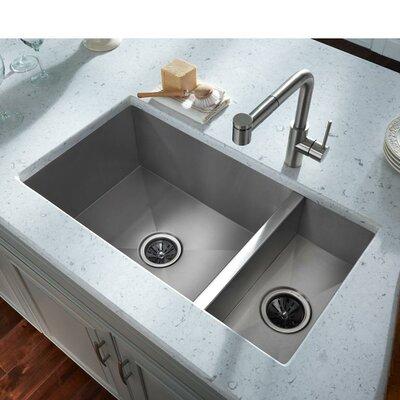 elkay avado 3225 x 1825 stainless steel double bowl undermount kitchen sink wayfair. Interior Design Ideas. Home Design Ideas