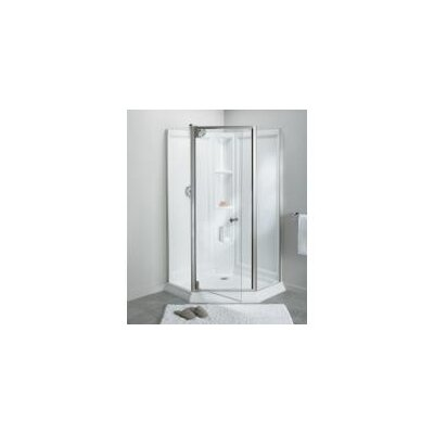 sterling by kohler solitaire frameless neoangle corner shower kit u0026 reviews wayfair - Kohler Shower Doors