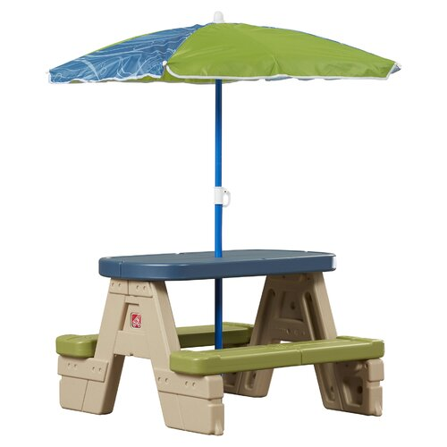 Step2 sit play picnic tablet play picnic table with umbrella step2 kids rectangle sit and play picnic table amp reviews watchthetrailerfo