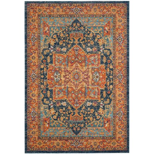 orange and blue area rug roselawnlutheran. Black Bedroom Furniture Sets. Home Design Ideas