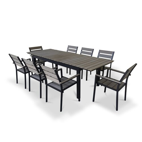 urban furnishings 9 piece extendable outdoor dining set reviews