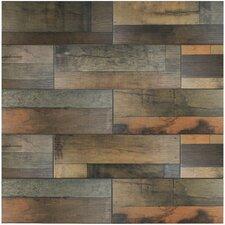 "Lena 7.88"" x 23.63"" Ceramic Wood Tile in Mix"