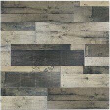 """Lena 7.88"""" x 23.63"""" Ceramic Wood Tile in Gris"""