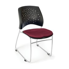 Stars and Moon Armless Stacking Chair with Cushion (Set of 4)