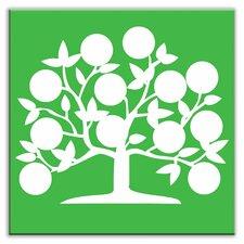 """Folksy Love 6"""" x 6"""" Satin Decorative Tile in Tree of Life Green"""