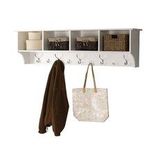 "Mackenzie 60"" Hanging Entryway 9 Hook Storage Shelf"